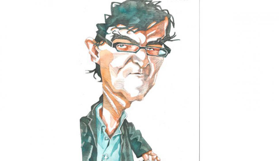 Javier Cercas. Dibujo de Ombú