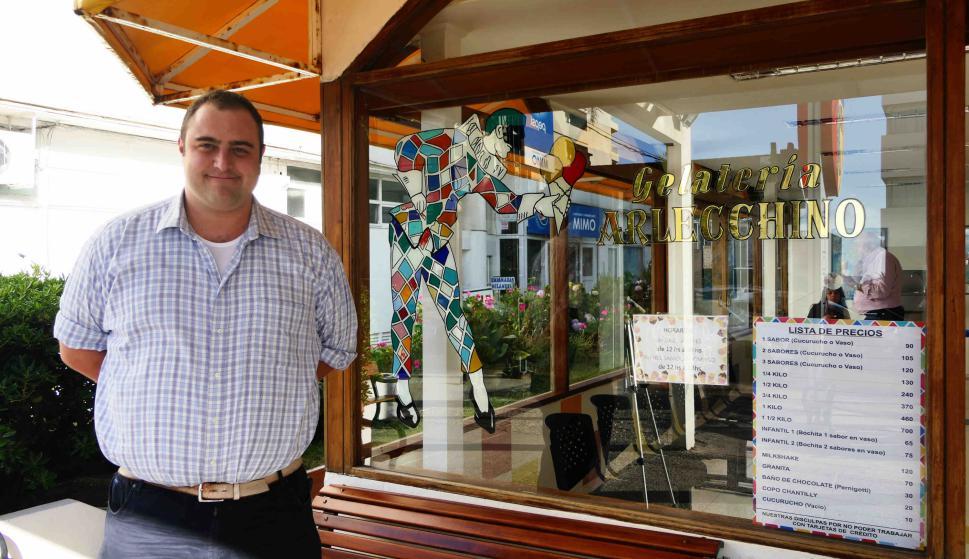 Antonio Barcella, director de heladería Arlecchino