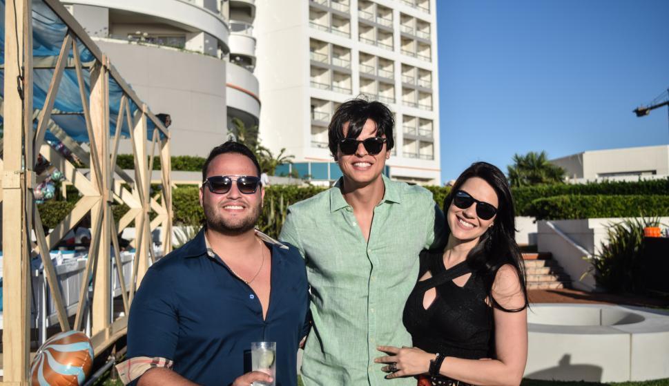 Thiago Castro, Claudio Teza, Silvana Negromonte.