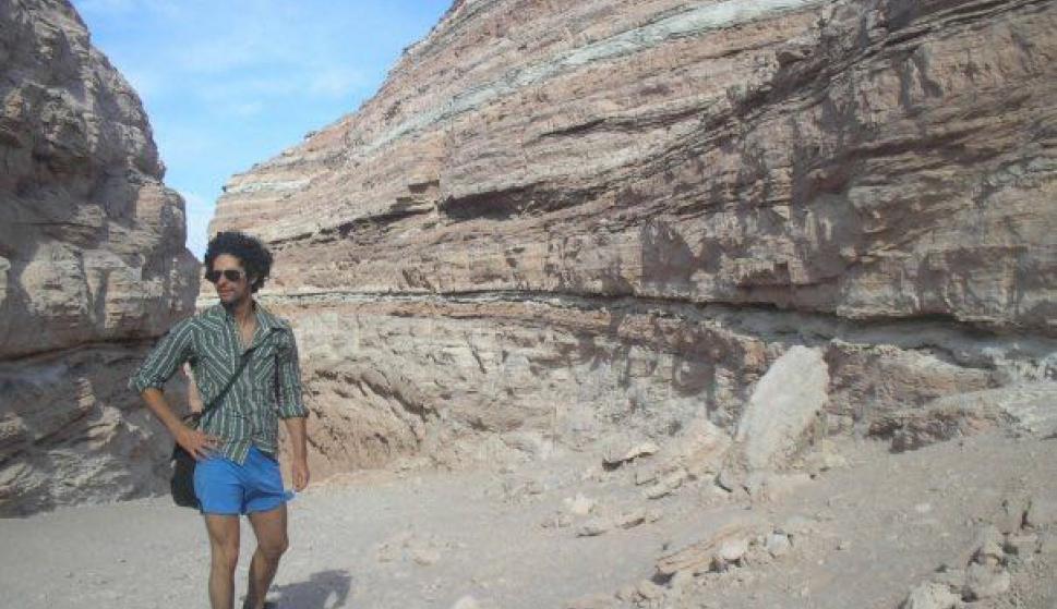 Leandro Ibero Nuñez en el desierto de San Pedro