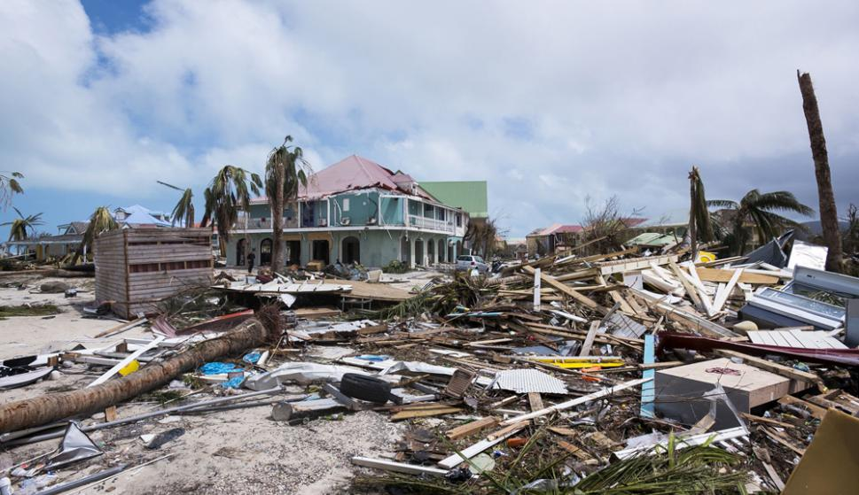 EE.UU. fue el escenario de al menos dos desastres en 2017. El huracán Harvey devastó la ciudad de Houston. Foto: AFP