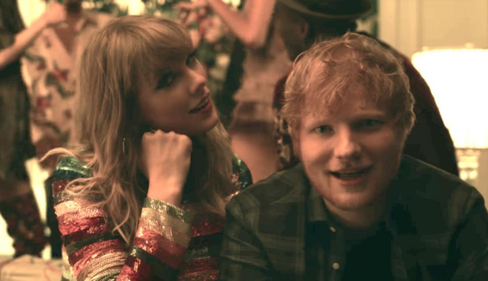 """Ed Sheeran y Taylor Swift en """"End Game"""". Foto: difusión"""