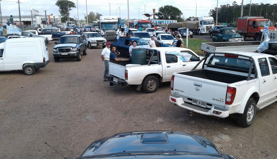 Movilizaciones en Salto. Foto: Luis Pérez