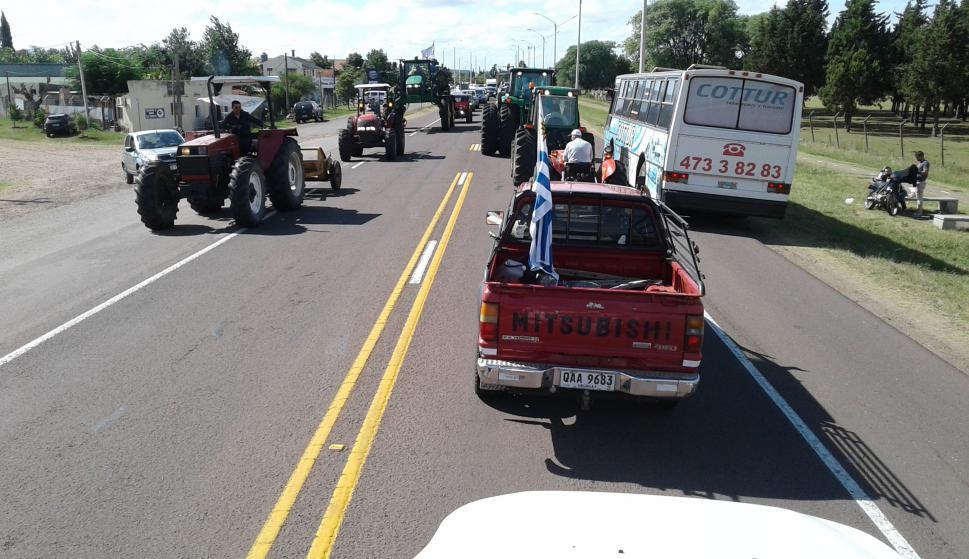 Protestas en Salto: Foto: Luis Pérez