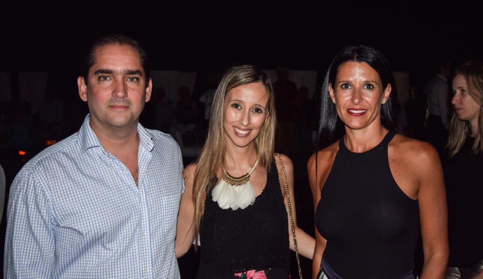 Carlos Saccone, Florencia Levrero, Soledad Trias.