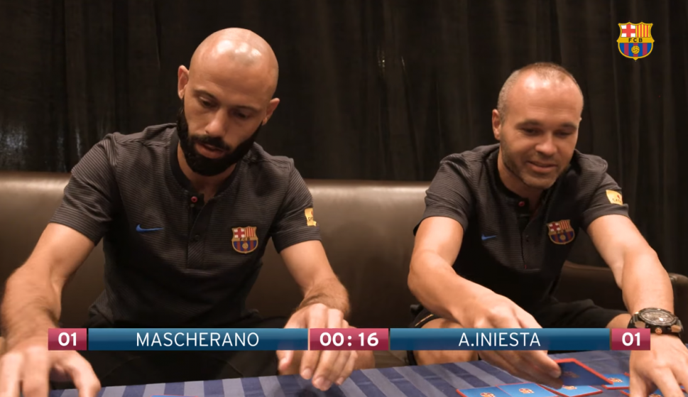 Mascherano e Iniesta. Foto: Barcelona