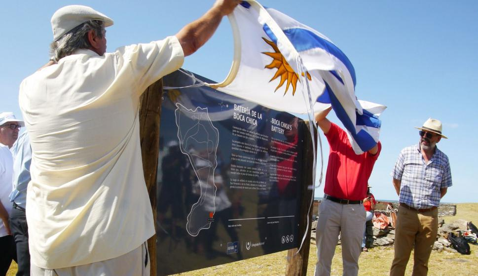 Inauguraron cartelería en la Isla Gorriti. Foto: Ricardo Figueredo