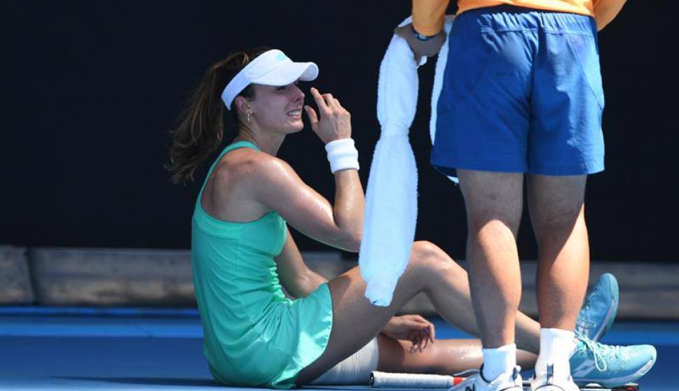 El calor es un rival más en el Abierto de Australia. Fotos: EFE