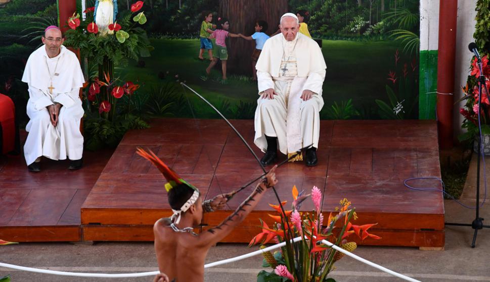 El Papa en Perú. Foto: AFP