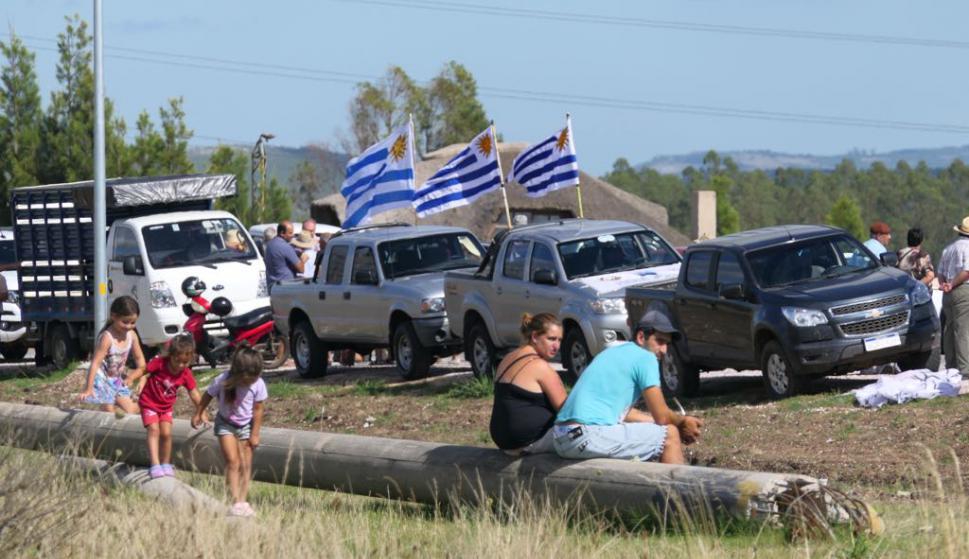 Movilización del agro en rutas 9 y 39 en San Carlos. Foto: Ricardo Figueredo