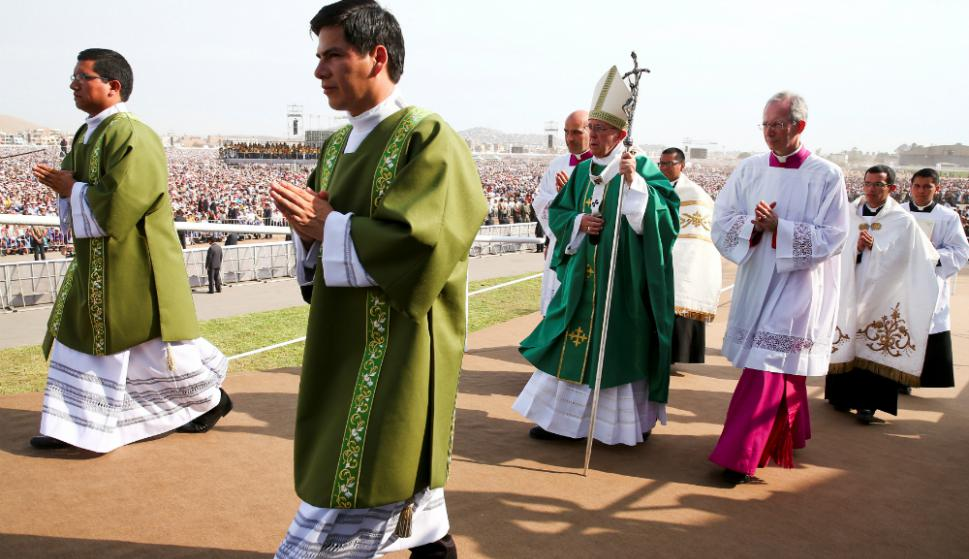 El Papa cerró su visita a Perú con una multitudinaria misa. Foto: Reuters