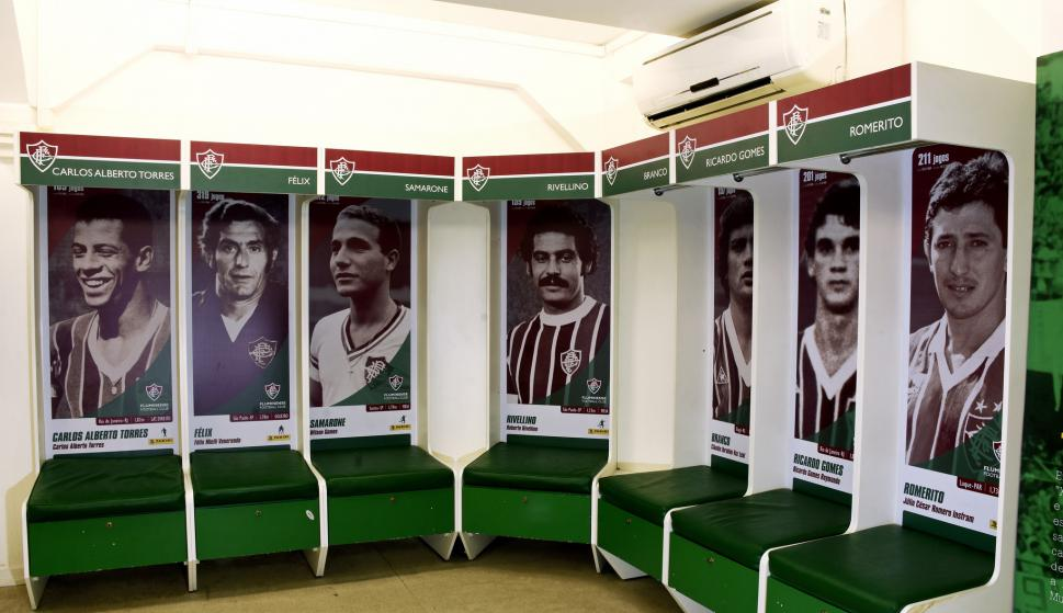 El vestuario del Fluminense