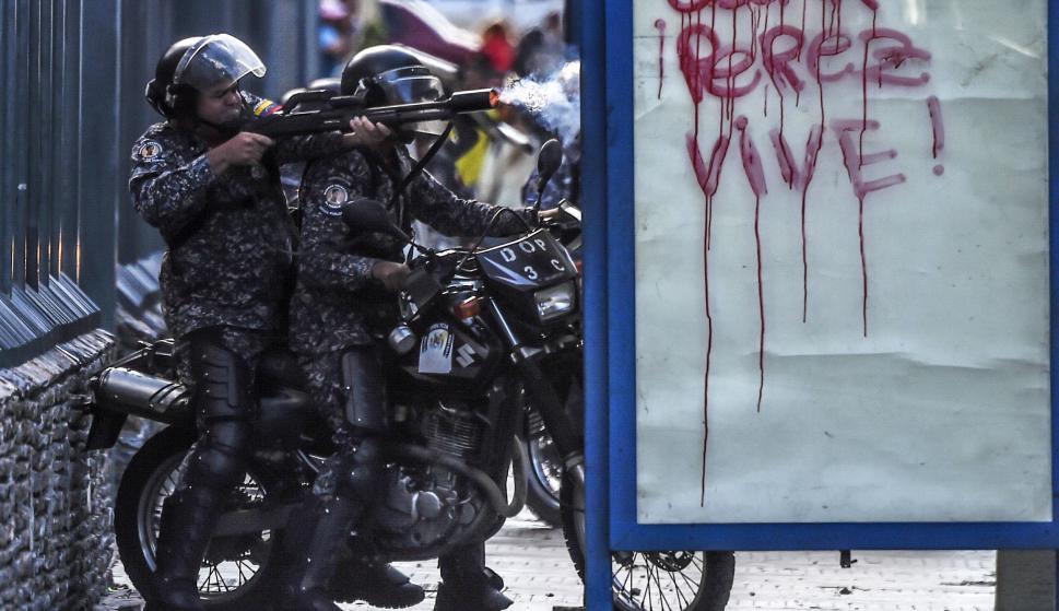 Venezuela vuelve a las calles otra vez por la muerte de Óscar Pérez. Foto: AFP