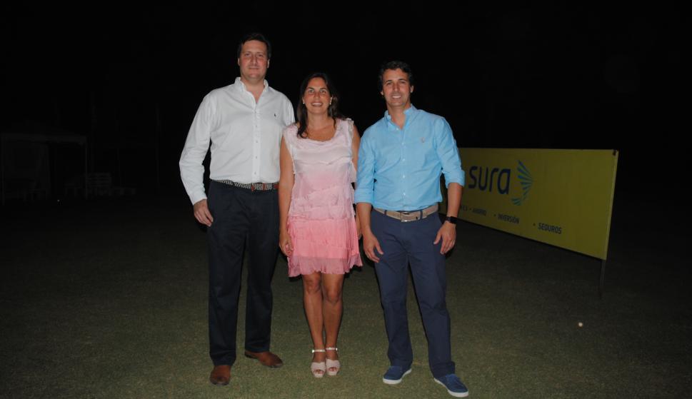 Gonzalo Falcone, María José Frontini, Gerardo Ameigenda.