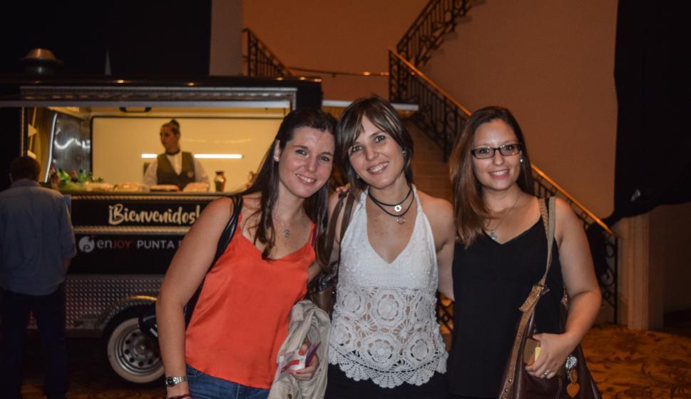 Carolina, Patricia y Gala Rivero.