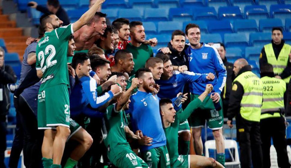 El Leganés eliminó al Real Madrid. Foto: EFE