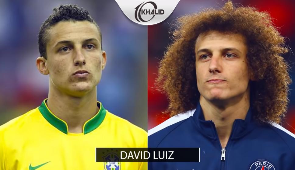 Futbolistas antes y después del afro