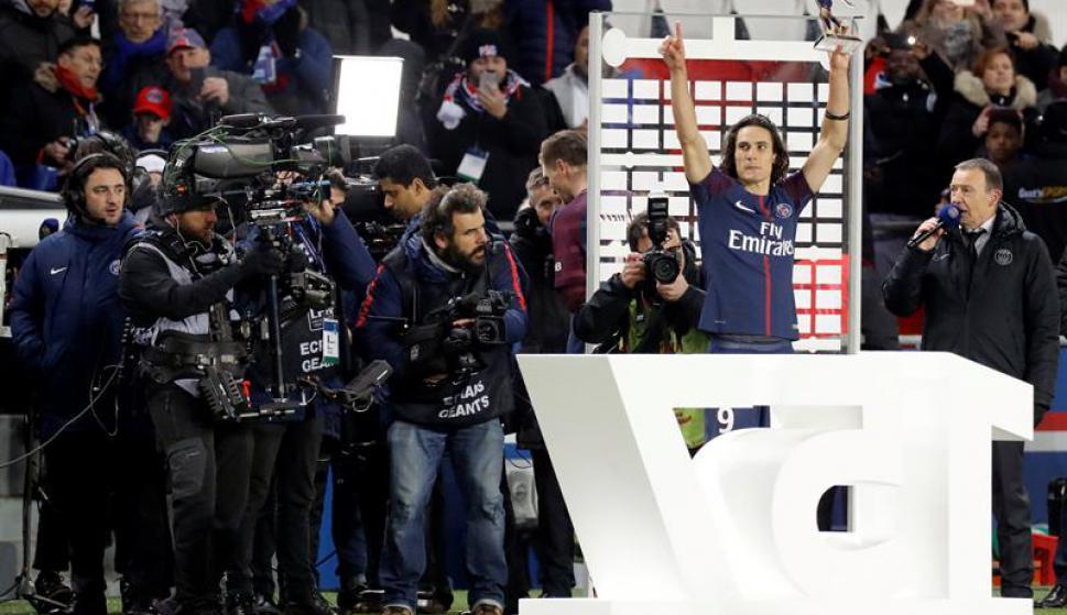 Cavani llegó a los 157 goles en el PSG. Foto: EFE