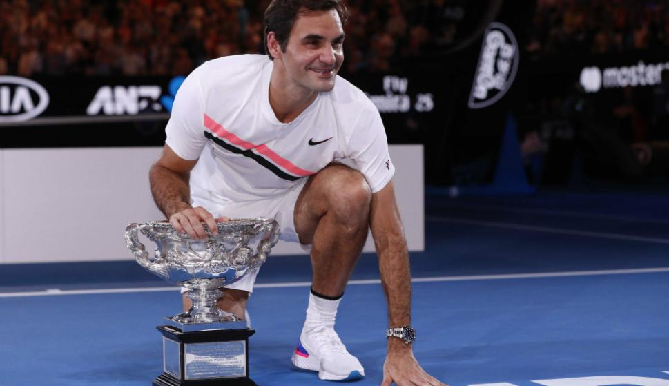 El punto de partido para que Federer ganara su vigésimo Grand Slam