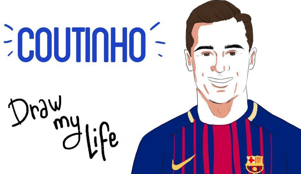 Draw my life Coutinho. Foto: Campeones