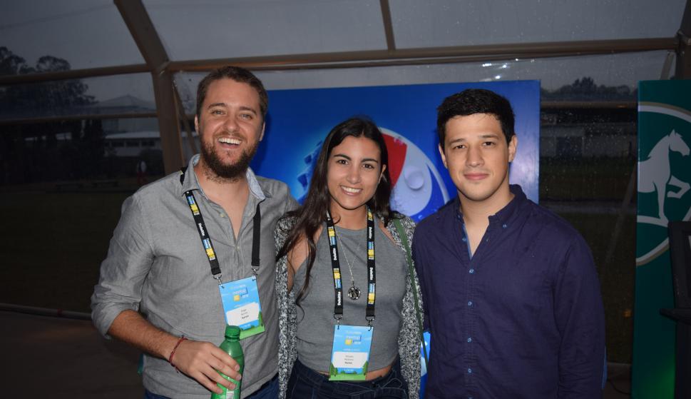 Diego Bonilla, Micaela Perdomo, Luis Cal.