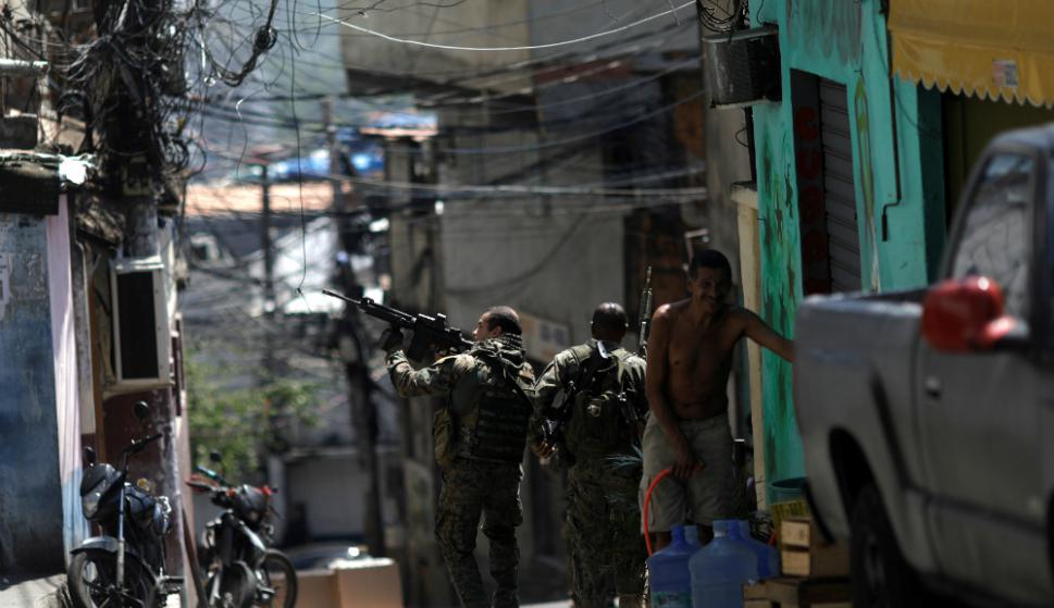 Rocinha: esta favela es una de las más peligrosas de Río, en enero murieron allí 23 personas. Foto: Reuters