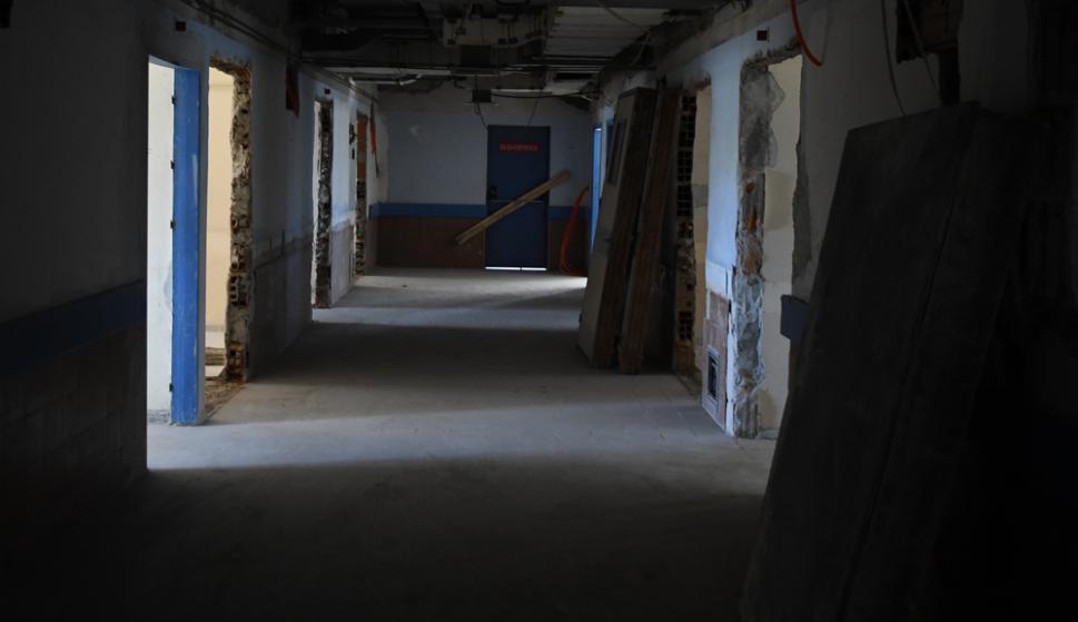 El tercer piso de internación está en obras hace seis meses y aún falta. Foto: Ariel Colmegna