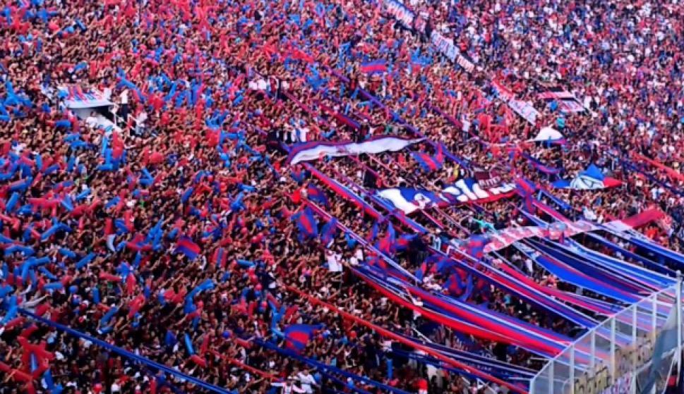 Hinchada de San Lorenzo. Foto: Marketing Registrado.