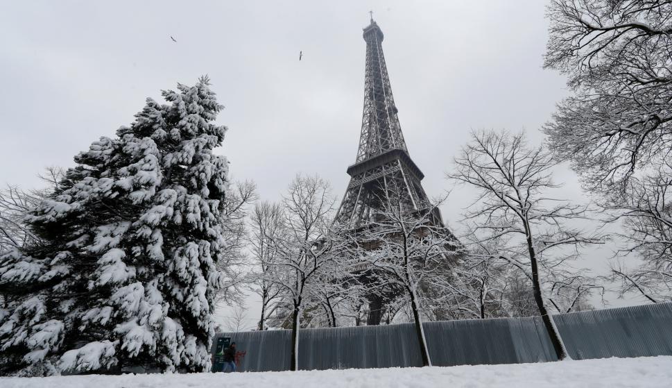 Paris con nieve