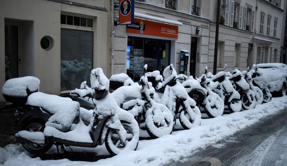 Nieve en París