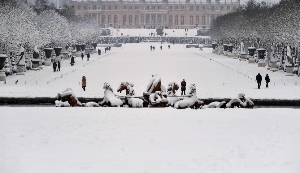 París cubierta en nieve
