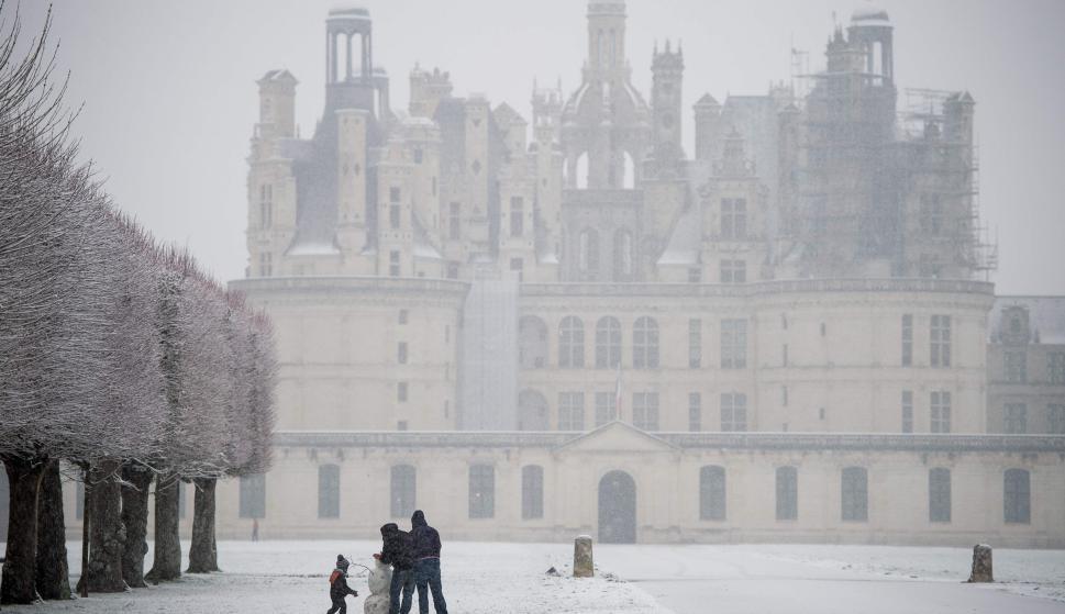 París con nieve