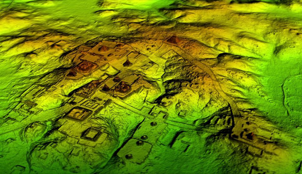 Recreación de LiDra Reserva de la biósfera Maya Foto: Cortesía de NatGeo