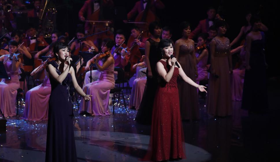 Inauguración: espectáculos artísticos en la apertura de los JJ.OO. de invierno. Foto: AFP