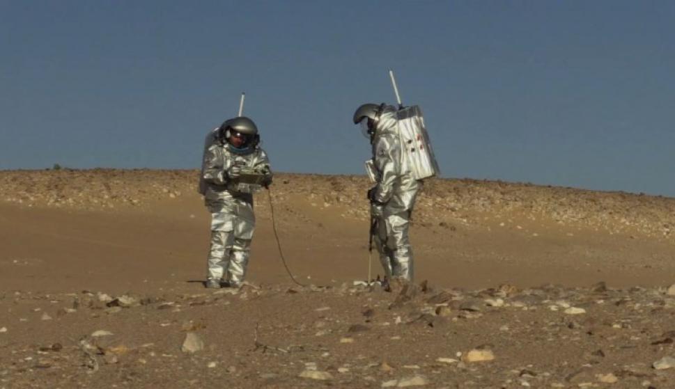 Desierto de Omán, misión a Marte. Foto: AFP