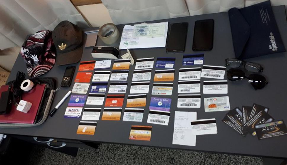 Estos fueron los objetos incautados. Foto: Ministerio del Interior