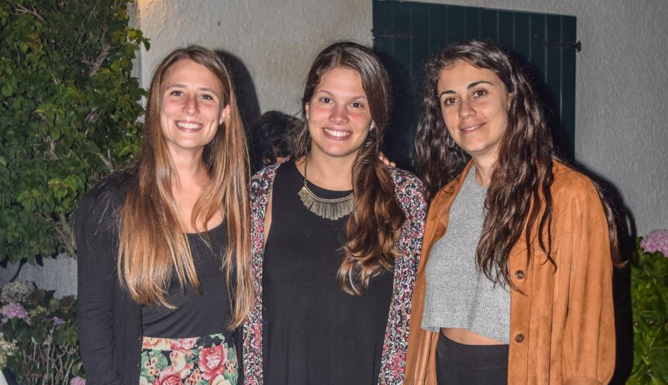 Inés Sagarra, Lucía Grolero, Faustina Ferreira.