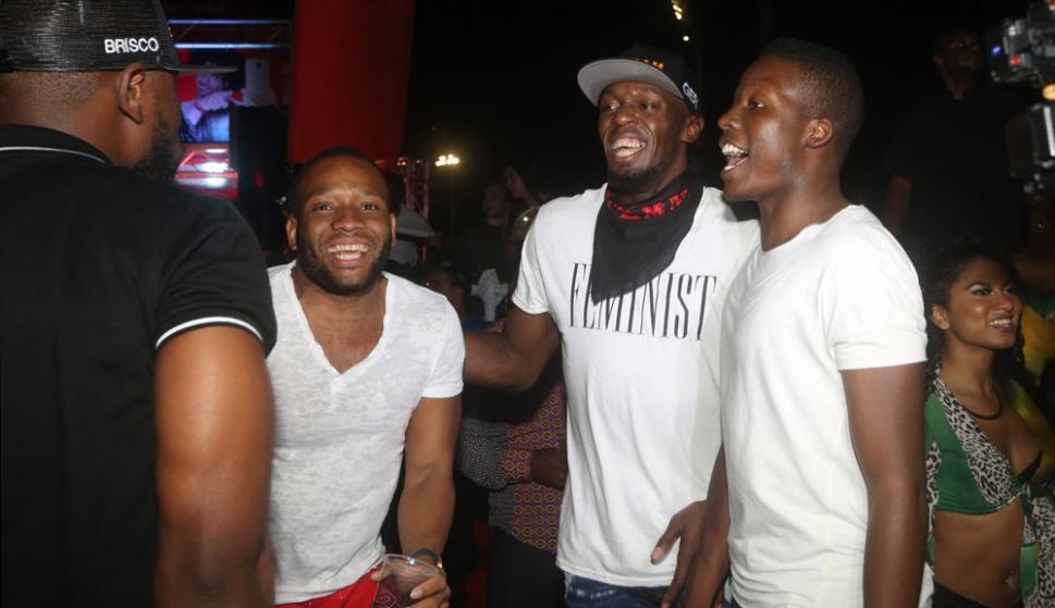Usain Bolt en una fiesta del carnaval de Trinidad y Tobago. Foto: EFE