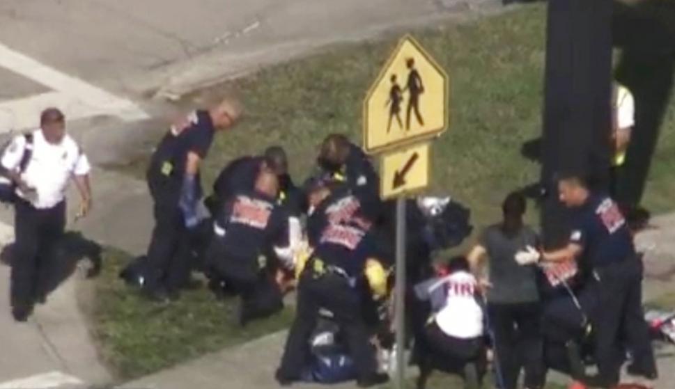 Tiroteo en una secundaria de Miami.Foto: Reuters