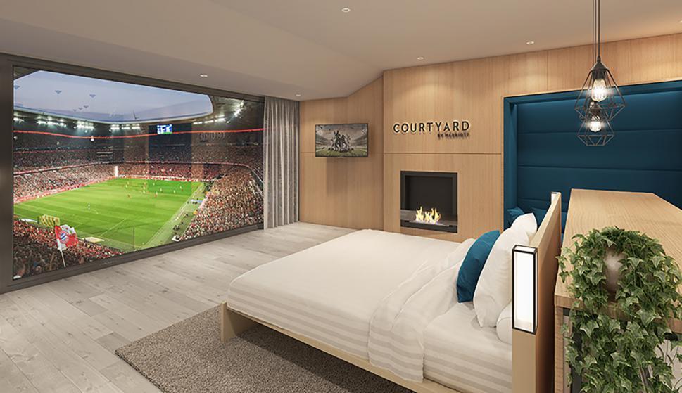 Sueño. Mirar un partido desde la cama, pero en el propio estadio será una realidad.