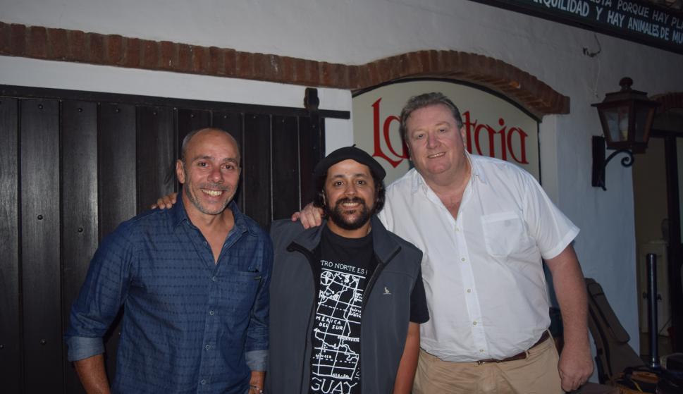 Mauricio Larregui, Carlos Malo, Gustavo Arias.