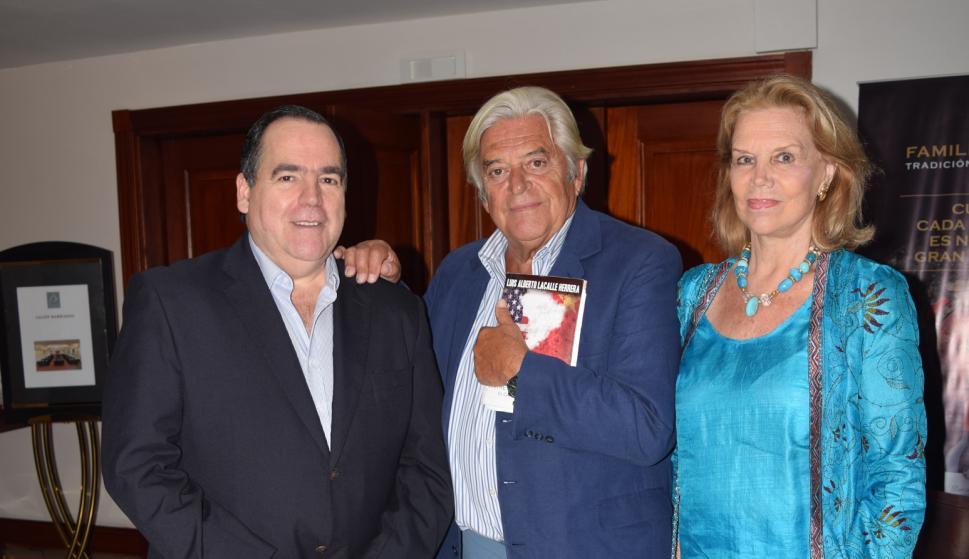 Diego Fischer, Luis Alberto Lacalle, Julia Pou.