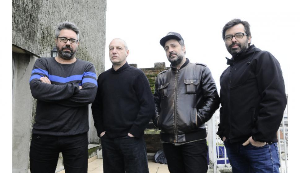 Alejandro Spuntone, Carlos Ráfols, Garo Arakelian e Irvin Carballo. Foto Archivo El País