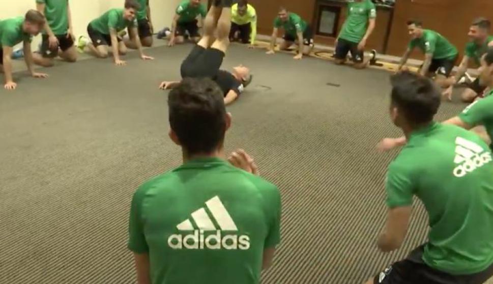 El ejercicio de activación del Betis.