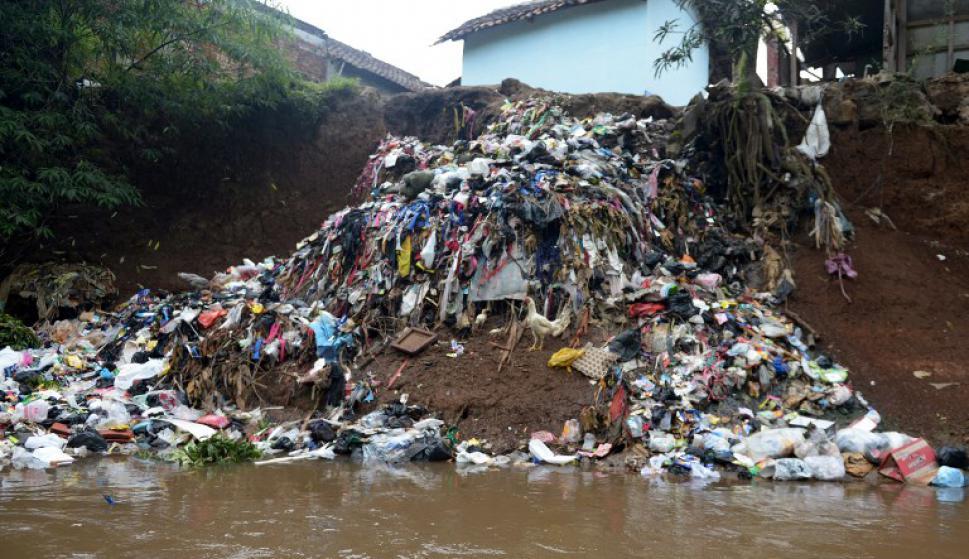 Citarum, el río más contaminado del mundo. Foto: AFP