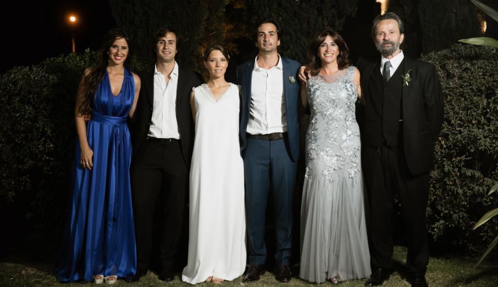 Camila y Leandro Sendic, Martina Paradela, Mariano Sendic, Hania Reyes, Mariano Sendic.