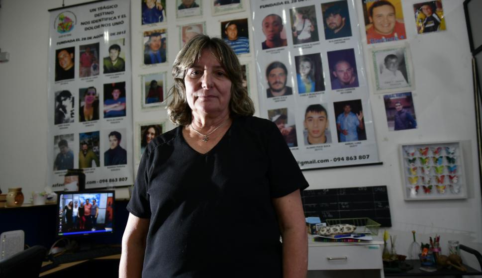 Graciela Barrera, presidenta de la Asociación de familiares y victimas de la delincuencia. Foto: Fernando Ponzetto.