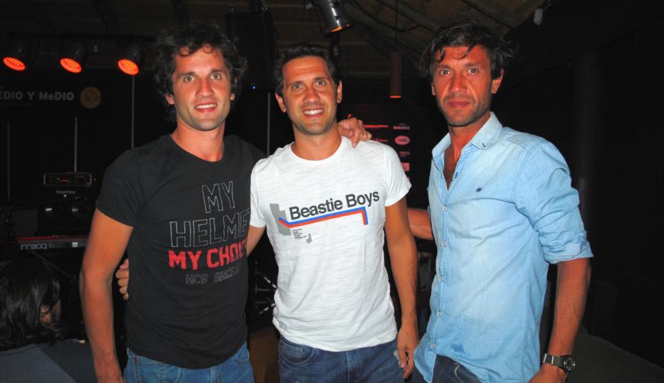 Juan, Ignacio y Martín Aizpurua.