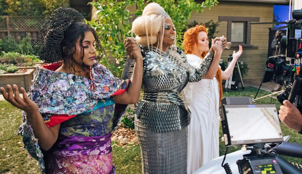 """Mindy Kaling, Oprah Winfrey y Reese Witherspoon filmando """"Un viaje en el tiempo"""""""