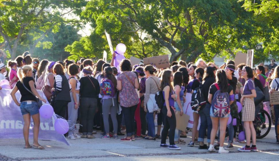 Día Internacional de la Mujer en Maldonado. Foto: R. Figueredo